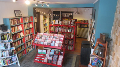 Interior photo of Backbeat Books and Music, Perth, Ontario