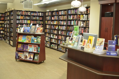 Interior shot of Bakka Phoenix Books, Toronto, Ontario
