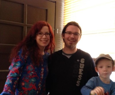 Photo of the Chu family (Christine, Dan, Tenzin) of Backbeat Books and Music