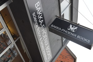 Exterior photo of Bakka Phoenix Books, Toronto, Ontario