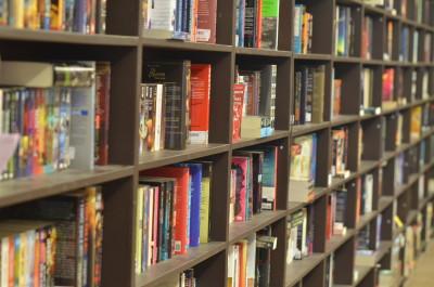 Interior photo of Bakka Phoenix Books, Toronto, Ontario