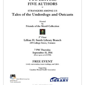 Toronto Book Social (Free Event): Tales of the Underdogs and Outcasts; Hosted by Friends of Merril Collection